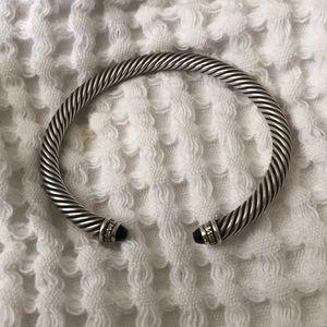 David Yurman Onyx & Diamond Cable bracelet